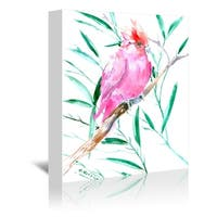 Americanflat 'Cockatoo Pink Tropical' Gallery Wrapped Canvas