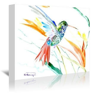 Americanflat 'Hummingbird With Red Tail' Gallery Wrapped Canvas (4 options available)