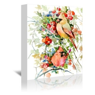 Americanflat 'Cardinal Birds' Gallery Wrapped Canvas