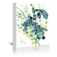 Americanflat 'Three Sea Turtles' Gallery Wrapped Canvas