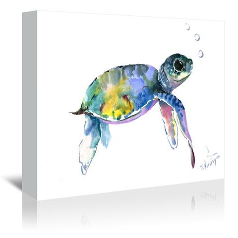 Americanflat 'Baby Sea Turtles 2' Gallery Wrapped Canvas