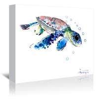 Americanflat 'Baby Sea Turtles 1' Gallery Wrapped Canvas