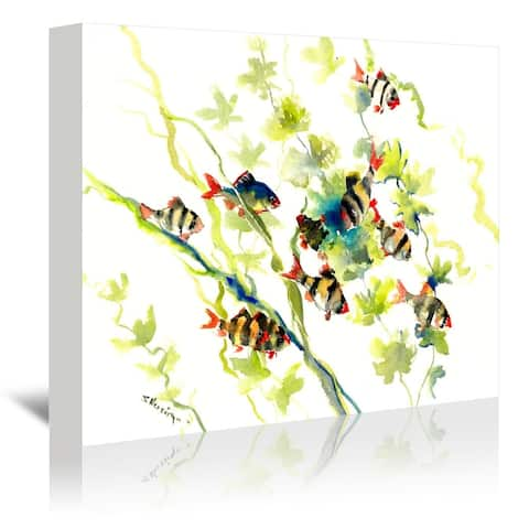 Americanflat 'Tiger Barb' Gallery Wrapped Canvas