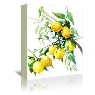 Americanflat 'Lemon Tree 2' Gallery Wrapped Canvas