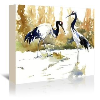 Americanflat 'Japanese Cranes' Gallery Wrapped Canvas