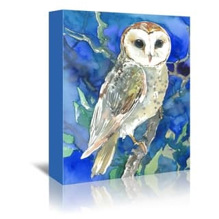 Americanflat 'Barn Owl' Gallery Wrapped Canvas