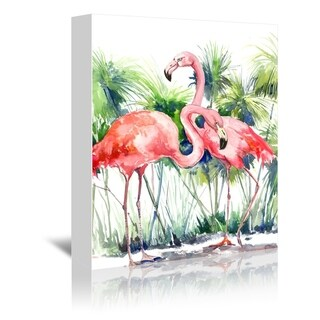 Americanflat 'Flamingos 3' Gallery Wrapped Canvas