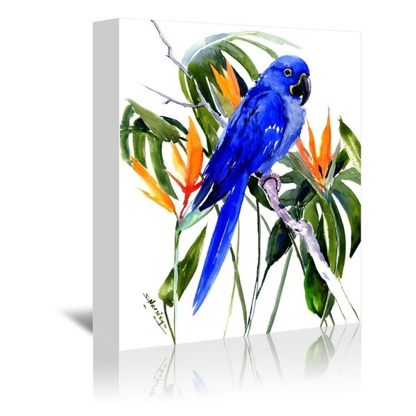 Shop Americanflat 'Hyacinth Macaw' Gallery Wrapped Canvas