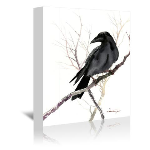 Americanflat 'Raven On Tree' Gallery Wrapped Canvas