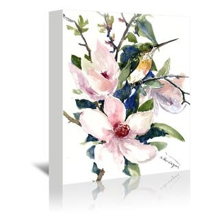 Americanflat 'Magnolia And Hummingbird 2' Gallery Wrapped Canvas