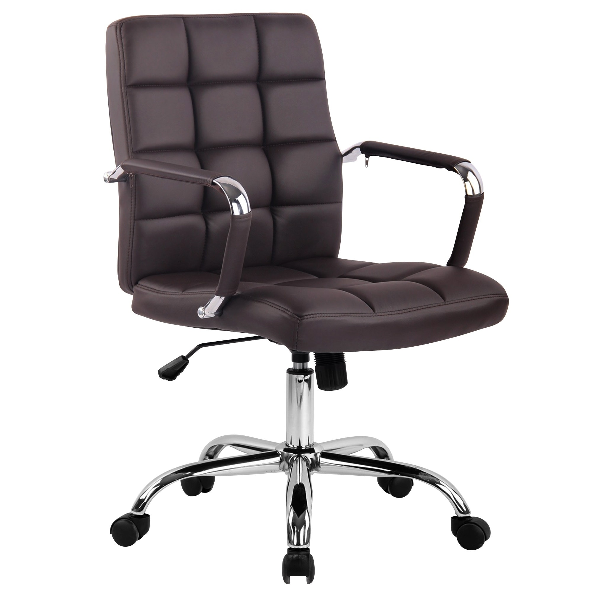 Pine Canopy Arum Adjule Black Leather Office Chair