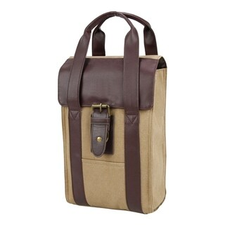 Canvas Arlington Double Wine Carrier Bag