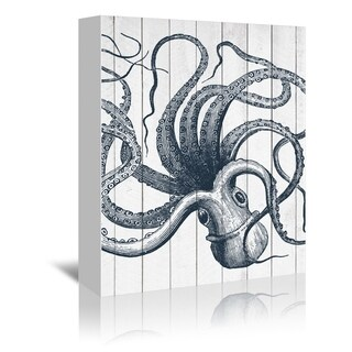 Americanflat 'Wood Octopus' Gallery Wrapped Canvas