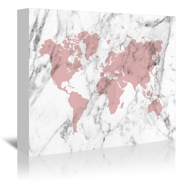 americanflat marble world map pink gallery