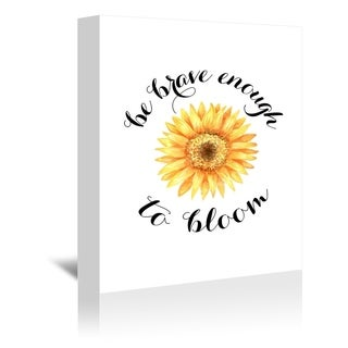 Americanflat 'Sunflower Bloom' Gallery Wrapped Canvas