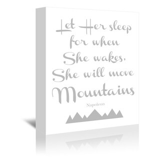 Americanflat 'Let Her Sleep Mountains Gray' Gallery Wrapped Canvas