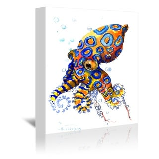Americanflat 'Blue Spotted Octopus' Gallery Wrapped Canvas