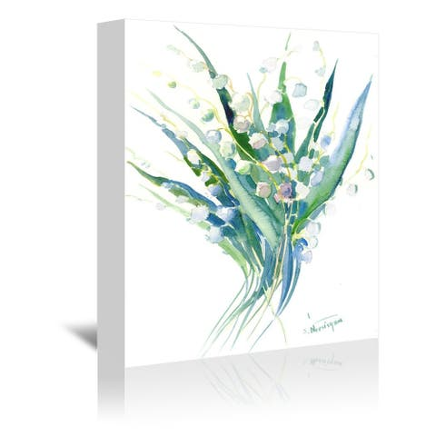 Americanflat 'Lilies of The Valley 1' Gallery Wrapped Canvas