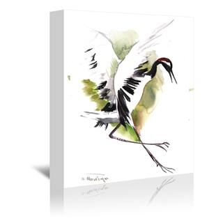 Americanflat 'Japanese Crane' Gallery Wrapped Canvas