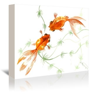 Americanflat 'Feng Shui Goldfish Koi 2' Gallery Wrapped Canvas