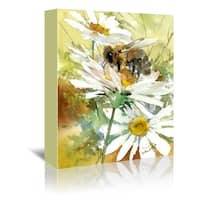Americanflat 'Honey Bee 3' Gallery Wrapped Canvas