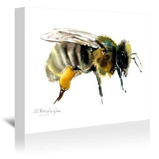 Americanflat 'Honey Bee' Gallery Wrapped Canvas