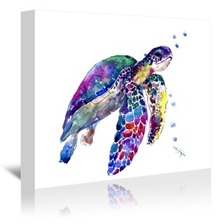 Americanflat 'Sea Turtle 1' Gallery Wrapped Canvas (4 options available)