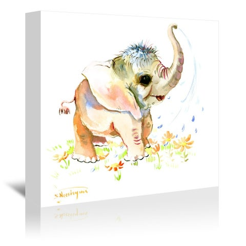 Americanflat 'Baby Elephant' Gallery Wrapped Canvas