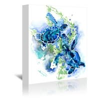 Americanflat 'Sea Turtles 1' Gallery Wrapped Canvas