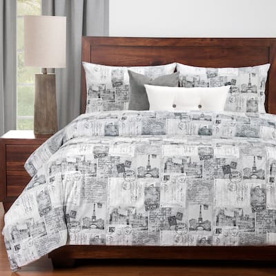 Siscovers Amour 6 Piece Luxury Cotton Duvet set with Comforter