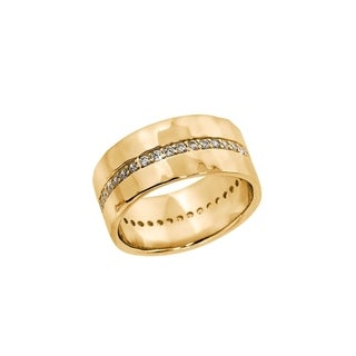 14k Gold Cigar Bands Ring Rings For Less Overstock