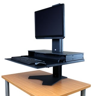 RightAngle Hover Helium Sit To Stand Desk Riser, Single Monitor