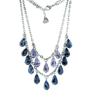 Eternally Haute 2 Row Stainless Steel Layering Necklace