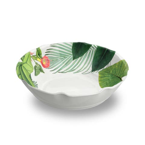 Amazon Floral Pasta Bowl Heavy Mold, Set of 6
