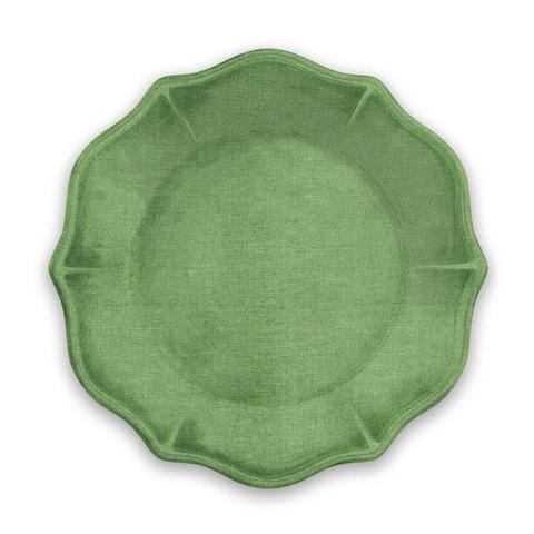 Savino Dinner Plate Amazon Green Linen Heavy Mold