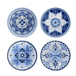 Cobalt Casita Assorted Set Of 4 Salad Plates