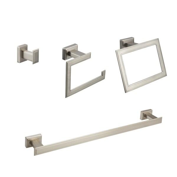 Shop Maykke Carraway 4-Piece Bathroom Hardware Set With 18