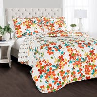 Lush Decor Weeping Flower 3 Piece Quilt Set