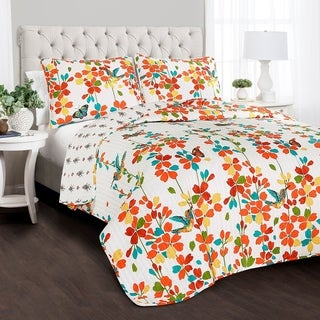Lush Decor Weeping Flower 3 Piece Quilt Set (2 options available)
