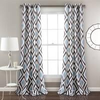 "Lush Decor Kevin Diamond Room Darkening Window Curtain Panel Pair - 52""W x 84""L"