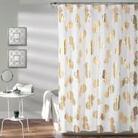 Lush Decor Pineapple Toss Shower Curtain