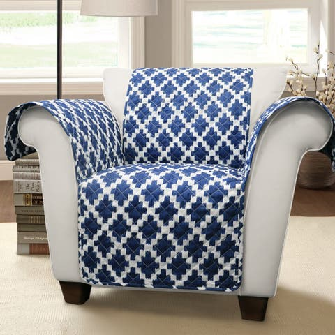 Lush Decor Wellow Ikat Arm Chair Furniture Protector