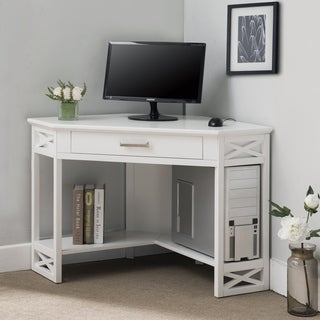 White Wood Corner Computer/Writing Desk