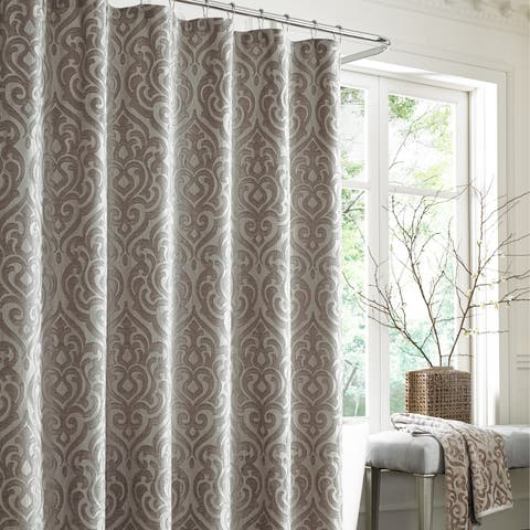 Five Queens Court Sarah Pearl Woven Jacquard Shower Curtain