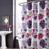 Five Queens Court Mia Watercolor Floral Shower Curtain