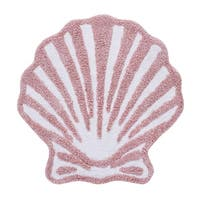 Five Queens Court Caribbean Reef Seashell Shaped Cotton Bath Rug