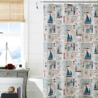 Five Queens Court Halifax Nautical Cotton Shower Curtain