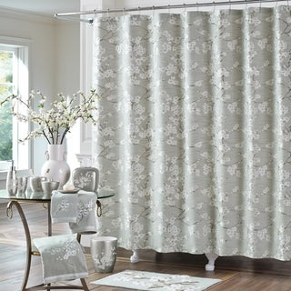 Five Queens Court Mateo Cherry Blossom Woven Jacquard Shower Curtain