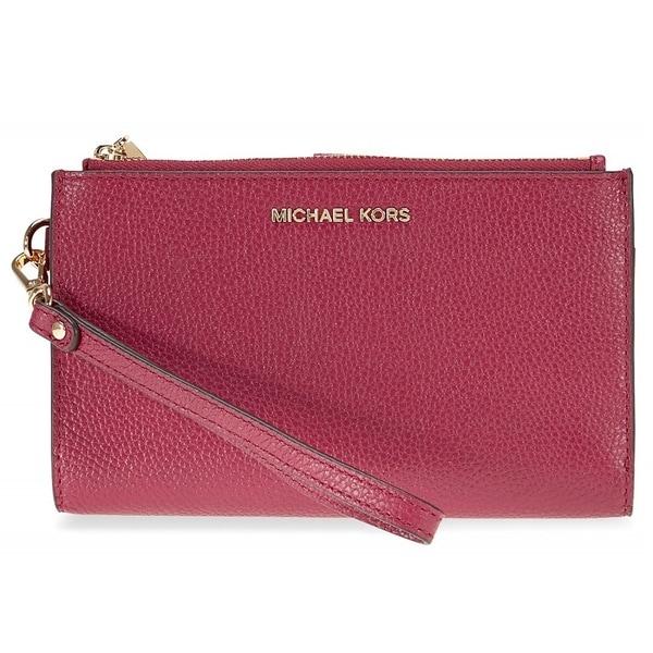 7dde3ef563b5 Shop Michael Kors Adele Mulberry Leather Double Zip Wristlet - Free ...