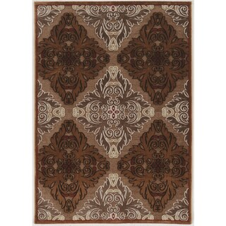 """Structure Medallions in Brown Beige Area Rug ( 8' X 10'3"""" )"""